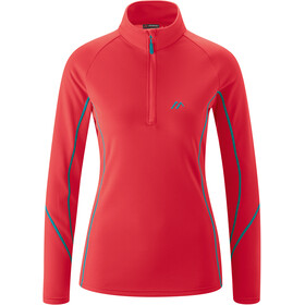 Maier Sports Uschi LS Turtleneck Top Women hibiscus
